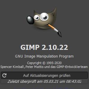 Gimp Infobereich