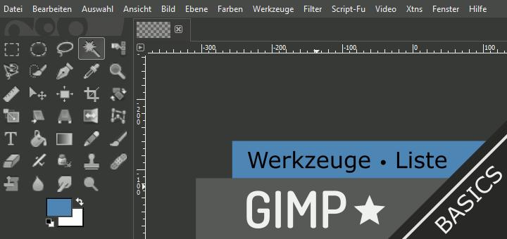 Gimp Werkzeuge Überblick