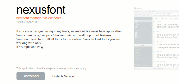 Nexus Font Manager