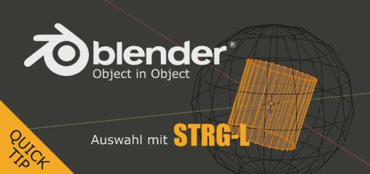 Blender STRG-L