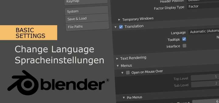 Change Language in Blender