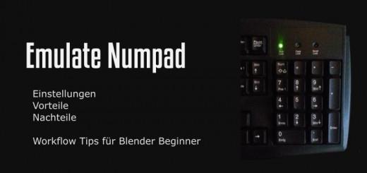 Blender - Emulate Numpad