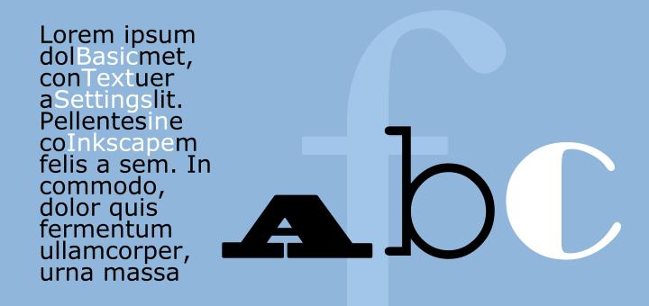 Inkscape Basic Text