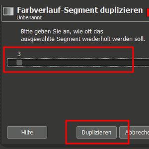 Verlauf-Segment duplizieren