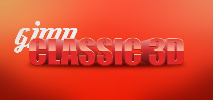 Classic 3D Text-Effect in Gimp