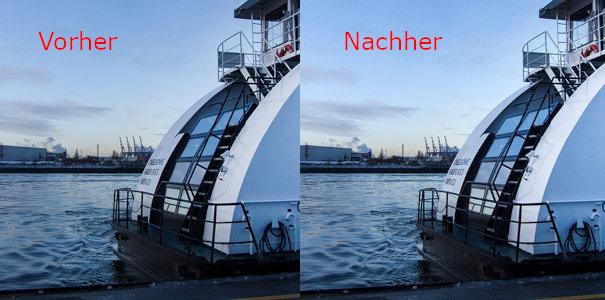 Tonwertkorrektur - Vorher/Nachher