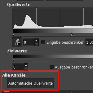 Automatische Quellwerte (alle Kanäle)