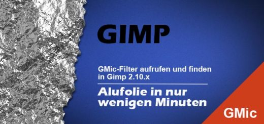 Alufolie in Gimp mit GMic