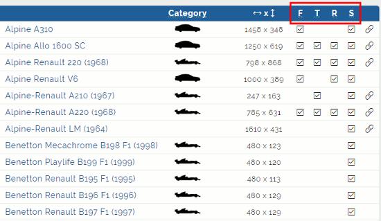 Blender Renault Car-List