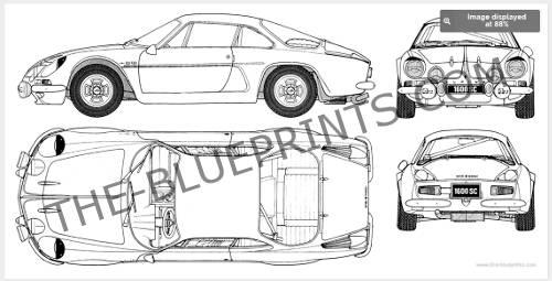 Blender Blueprint 4 Views
