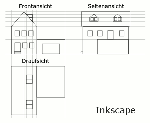 Blender Inkscape Blueprint