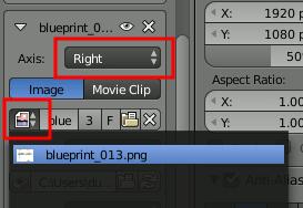 Blueprints in Blender