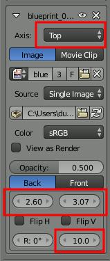 Blender Blueprint Position