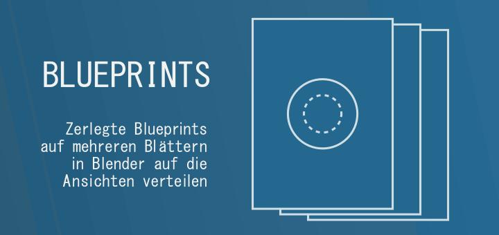 Blender Blueprint Sheets