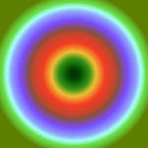 Ebene mit konischem Farbverlauf