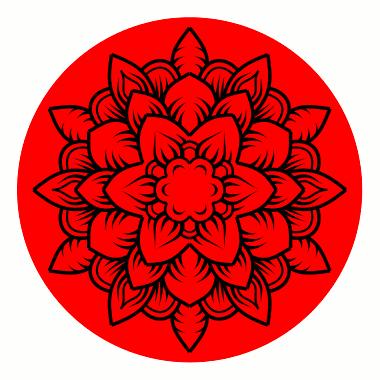 Beispiel Inkscape Mandala