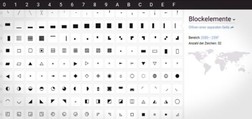 Unicode Tipps