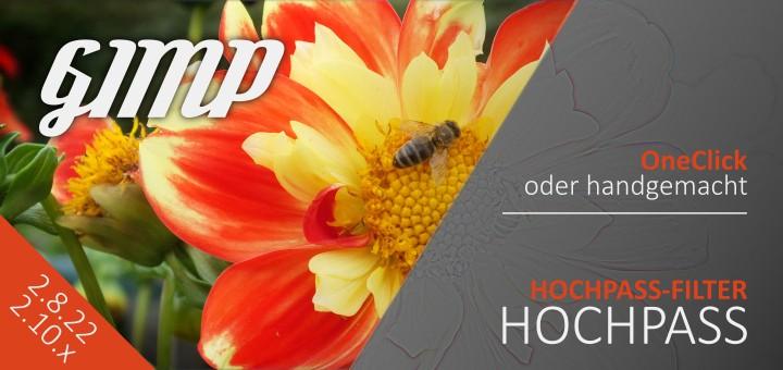 Gimp Hochpass - Gimp 2.10