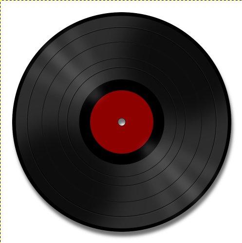 Vinyl Record in Gimp