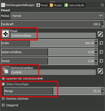 Gimp Unicode Brush Settings