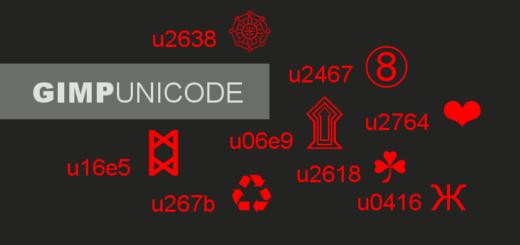 Gimp Unicode verwenden
