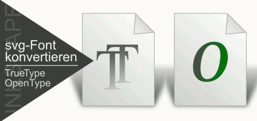 Inkscape schrift konvertieren