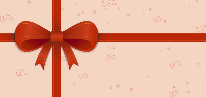 Inkscape Xmas Ribbon