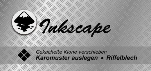 Inkscape gekachelte Klone Karomuster
