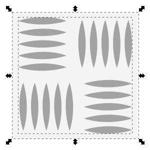 Quadratfläche mit Muster füllen