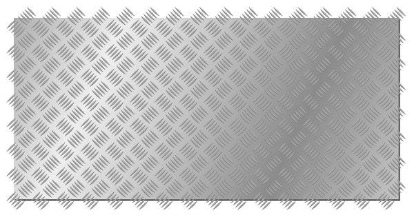 Riffelblech Beispiel in Inkscape