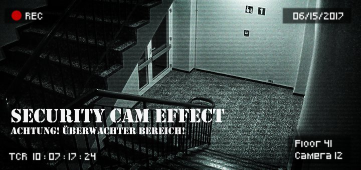 Gimp Security Cam Effect