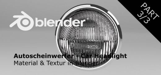 Blender Autoscheinwerfer Part 3
