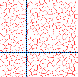 Fertig generiertes Voronoi-Muster
