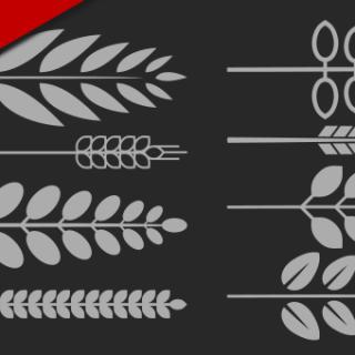 Inkscape Wreath Download Set