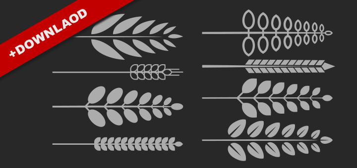 Inkscape Wreath Download Set