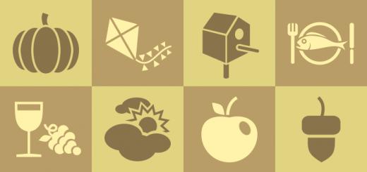 Inkscape Herbst Symbole