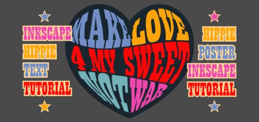Inkscape Hippie Text