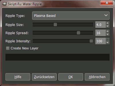 Filter Verzerren - Water Ripple