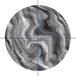 Kraterartige Flecken