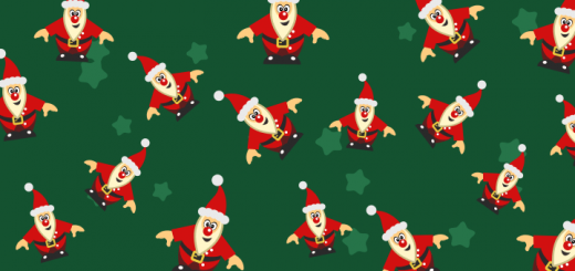 Inkscape simple Xmas Wallpaper