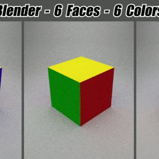 Blender 6 Faces, 6 Colors