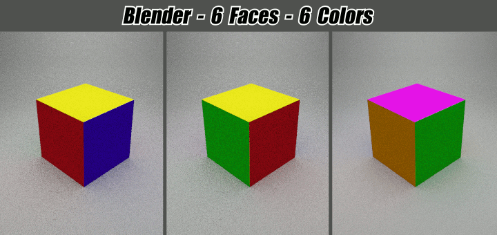 Blender 6 Faces, 6 Colors