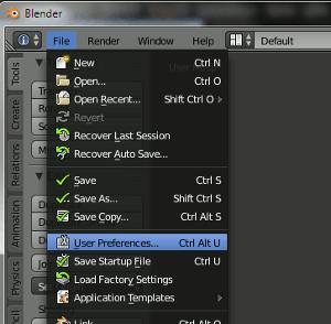 Blender User Preferences