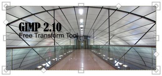 Gimp 2.10 Free Transform Tool
