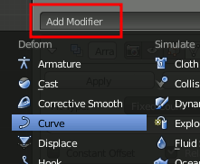 Blender Curve Modifier