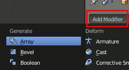 Blender Generate Array