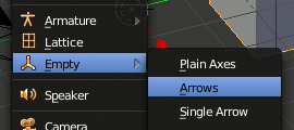 Blender add Empty