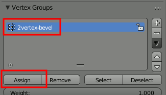 Blender Assign Vertex Group