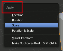 Blender Apply Scale