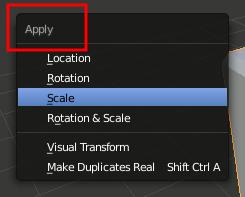 Blender Apply Scale
